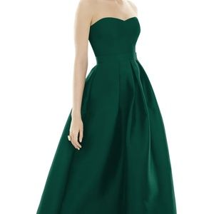 Alfred Sung High/Low Gown - Hunter Green